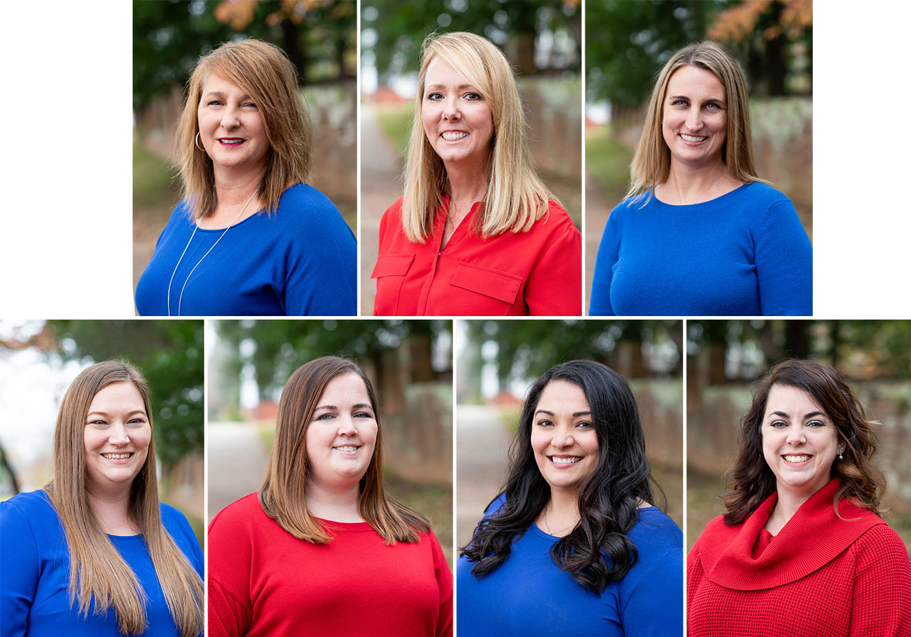 headshot collage of mortgage department consisting of 7 women